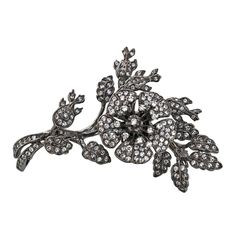 """CZ & Rhodium """"En Tremblant"""" Pin  
