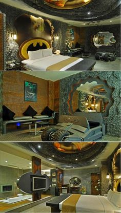 Batcave! Wow... I am a huge Batman fan but this could very well be an example of having too much money...