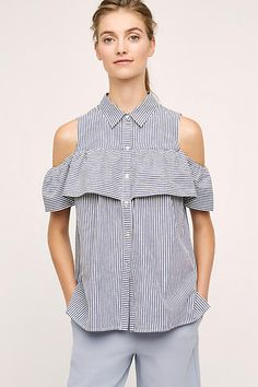 Anthropologie Scilla Open-Shoulder Top by Sunday in Brooklyn