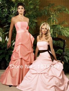 >> Click to Buy << Unique Taffeta Bridesmaid Dresses Floor Length Pleat with Sashes Off the Shoulder Sleeveless Free Shipping JB229 #Affiliate