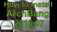 How to Install ArchBang 2016.07 on VMware Workstation/Player