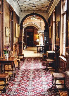 A castle hallway.