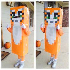 Stampylongnose Halloween costume.  DIY Stampy cat. Baby Halloween, Halloween Crafts, Halloween Ideas, Cat Costumes, Halloween Costumes, Costume Ideas, Minecraft Costumes, Minecraft Cat, Ginger Cats