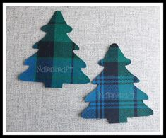 2x5in Christmas Trees,P2. Scottish Tartan Wool Fabric, Cut Out,Iron & Sew On,Appliqués by Nairncraft on Etsy