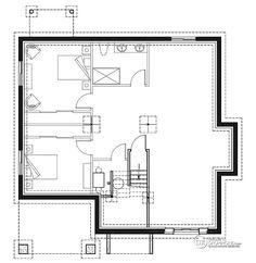 Détail du plan de Maison unifamiliale W3155