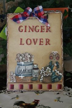 Gingerbread DecorGinger Lover ClipboardNote by CraftsByJoyice, $14.95