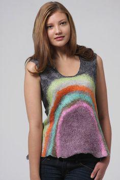 Harlequin Feltworks by Jenne Giles Recycled Dress, Sweater Scarf, Felt Fabric, Nuno Felting, Wearable Art, Wool Felt, Boho Chic, Doll Clothes, Creations
