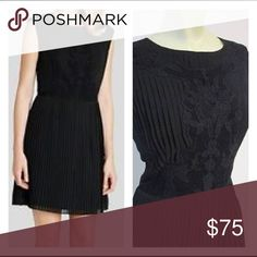 Ted Baker Lace Pleated Black Mini US 10 Authentic Ted Baker NWOT Ted Baker Dresses Mini