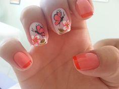 Nail Art perfeita com traços delicados e design belíssimo!!! Os melhores produtos para suas unhas você encontra em: www.lojadeesmaltes.com.br