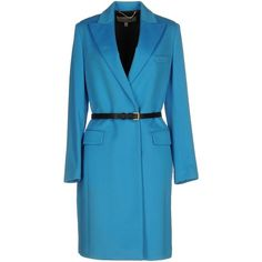Paul Smith Coat (277.595 HUF) ❤ liked on Polyvore featuring outerwear, coats, azure, paul smith, wool coats, blue wool coat, blue coat and fur-collar wool coats