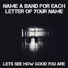 S-uicide silence C-rown the empire A-sking alexandria R-amones  L-inkin park E-vanescence T-he devil wears prada Cx your turn!