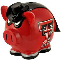 Texas Tech Red Raiders NCAA Team Thematic Piggy Bank (Small)