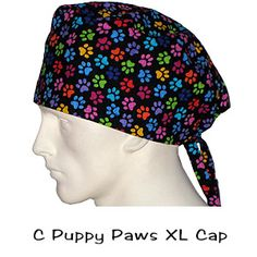 Scrub Surgical XL Caps C Puppy Paws