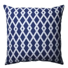 Grace your couch or bed with this decorative throw pillow from Pillow Perfect. This piece features a bold geometric pattern and smooth knife edging. This large 16.5-inch pillow will complement any decor and only requires spot cleaning.