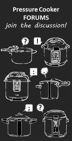 Got a pressure cooker win? disaster? question? Join us in the forums! Let's talk about it.