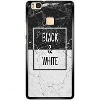 Huawei P9 Lite hoesje - Black & white