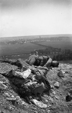 """""""Juillet 1917, Aisne. Deux jeunes soldats français tués."""" Frantz Adam/AFP"""