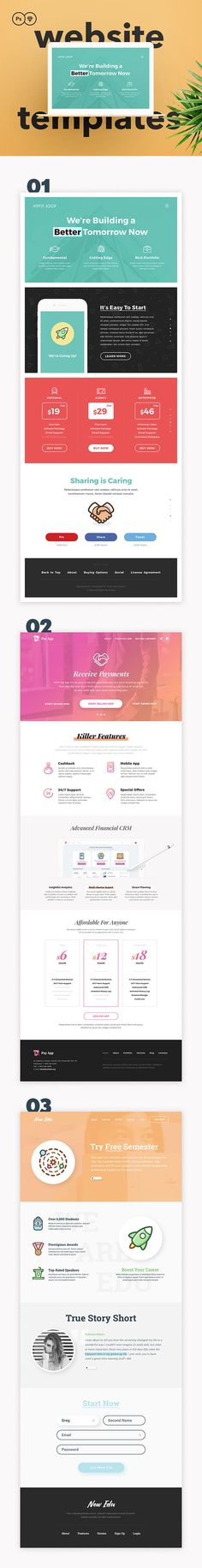 Capitalist Website Templates (Sketch & PSD) by PixelBuddha