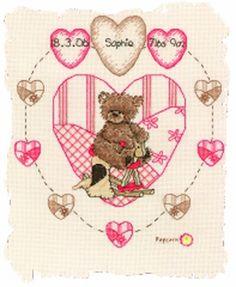 Popcorn Heart - Popcorn Cross Stitch Kit by Vervaco