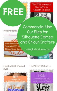 Free commercial use cut files and SVG for Silhouette Cameo and Cricut crafters. By cuttingforbusiness.com.