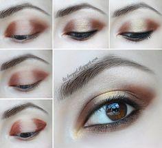 New Year Smoky Eyes #eyemakeup #eyeshadow #blueliner #neutral #everydaylook #eyelooks - bellashoot.com & bellashoot iPhone & iPad app