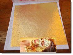 Full+5+pcs.24K+Genuine+Real+Gold+Leaf+for+Facial+Mask+Skin+Treatment&+Anti-aging