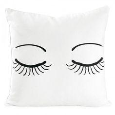 Miss Etoile closed eyes cushion