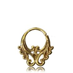 Ethnic brass septum ring indian with intricate design gauge for pierced nose beautiful body jewellery ethnic Septum Ring, Indian Meditation, Pixie Outfit, Body Jewellery, Jewelry, Hippie Outfits, Buying Wholesale, Filigree, Ethnic