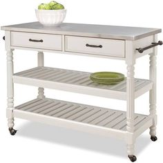 Home Styles Savannah Cart - White - 5219-95