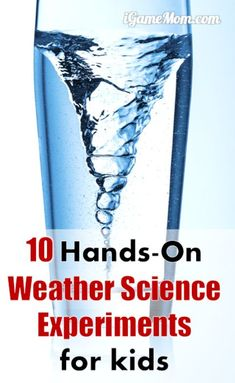 10 weather science experiments for kids, all are hands-on, easy to do science activities you can do at home or classroom. Create rainbow, make cloud, create tornado and thunderstorms. Great STEM activities for Kids from preschool to high school. Weather Experiments, Science Experiments Kids, Science Fair, Science Lessons, Science Resources, Life Science, Science Activities For Toddlers, Science Crafts, Science For Kids