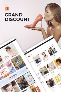 The Grand Discount WordPress theme is ideal for online stores, fashion sites, and other web resources, on which a lot of fashion and clothing items are sold