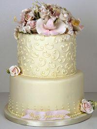 ivory wedding cake toronto by www.fortheloveofcake.ca, via Flickr