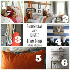 for laur to check out!...              the upper right corner photo.............                  Industrial Meets Rustic Room Decor - Dukes & Duchesses
