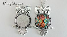 Hey, I found this really awesome Etsy listing at https://www.etsy.com/listing/231206299/5-owl-pendant-kits-pendant-trays-1-inch