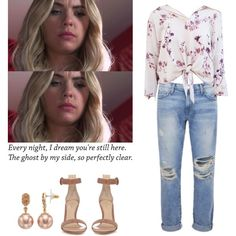A fashion look from December 2016 featuring Current/Elliott jeans, Gianvito Rossi sandals and Simply Vera earrings. Browse and shop related looks.