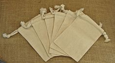 Natural Muslin Favor Bags  Small 3x4  Muslin by glassactsupply, $4.25