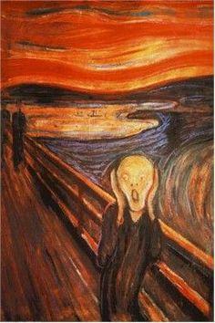 Doctor Who Dalek Parody Print Edvard Munch Scream Art Tardis Edvard Munch, Most Famous Paintings, Famous Artists, Classic Paintings, Famous Art Pieces, Famous Artwork, Amazing Paintings, Le Cri Munch, Munch Munch