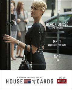 The fashion of Claire Underwood in House of Cards.