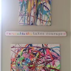 creativity takes courage  hand painted distressed sign - Henri Matisse on Etsy, $35.00