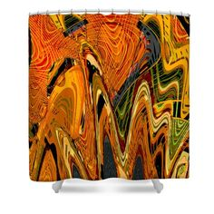Exotica Abstract #2 Shower Curtain by Regina Geoghan