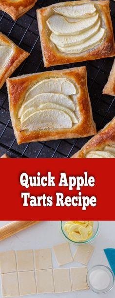 Quick Apple Tarts are a Fall staple. You can easily serve them for unexpected guests — just pop them in the oven and in under 15 minutes you will have a hot and fresh dessert or breakfast.
