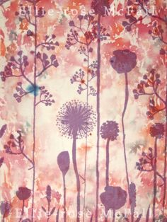 Ellie-rose McFall- Heat transfer background with screen printed design on top Transfer Printing, Heat Transfer, Bleach Pen, Year 8, Textile Artists, Surface Design, Printmaking, Style Ideas, Feathers
