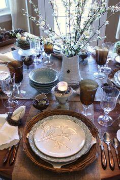 from Stone Gable  http://destinyinbloom.com/rustic-luxe-spring-table/