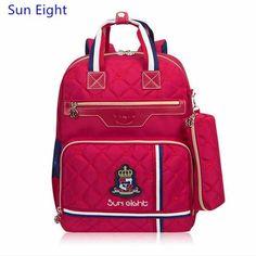 Sun Eight 3 pcs kids bag set boys school bags orthopedic backpacks for children  school backpack girl bookbag pen pencil case 60ad0064170bb