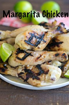 This delicious recipe for Margarita Grilled Chicken Legs has all your favorite margarita flavors. It's tender, juicy and tasty every time! It combines lime, agave, tequila, and salt for the perfect grilled chicken recipe for the summer. #chicken #healthy #healthydinner #healthyrecipe #margarita