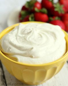 Delicious Cheesecake Fruit Dip recipe on { lilluna.com }