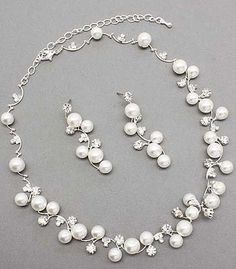 Bridal Wedding Jewelry Set Austrian Crystal Rhinestone Pearl White Accessoriesforever,http://www.amazon.com/dp/B007MRQQLG/ref=cm_sw_r_pi_dp_x86ntb0K959MYZHJ