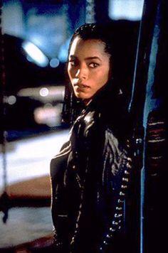 """Angela Bassett as Lornette 'Mace' Mason in """"Strange Days"""" http://www.imdb.com/name/nm0000291/"""