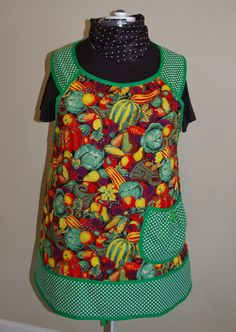 Plus Size Vegetables Retro Style ApronSize by SusiesTieOneOnAprons, $29.00