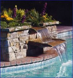 Inground Swimming Pool Waterfalls | Swimming Pool Builders, Fiberglass Pools, Vinyl Pools - Pro Pools ...